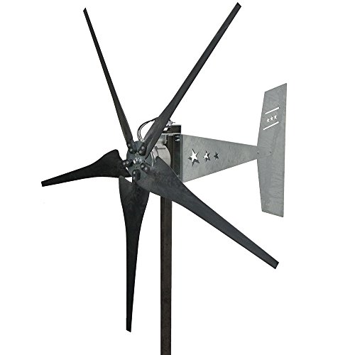 Missouri Wind and Solar 1600 Watt 5 Blade Missouri Freedom Wind Turbine (12V, Black) (12v Stator And Hub)