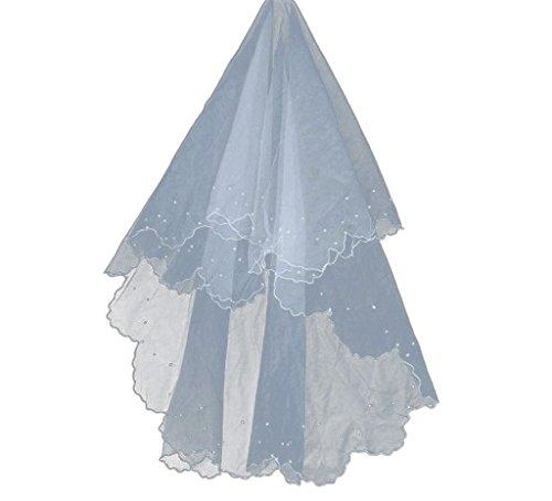 Womens White Sexy CLOTHES Veil Scallop Dress Bride AM Wedding Oq4BRxwB5