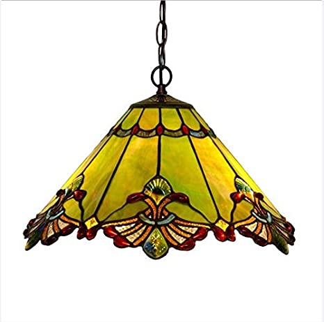 Tiffany Style Pendant Light 17 3 Inch Wide Stained Glass