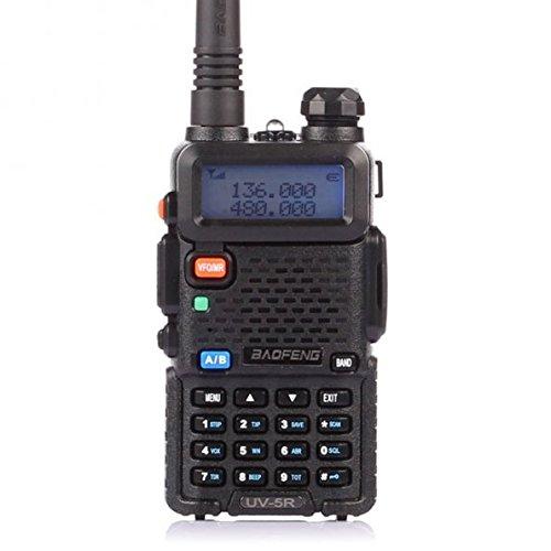 BAOFENG UV-5R BANDA DUAL DE DOS VÍAS DE RADIO (NEGRO)