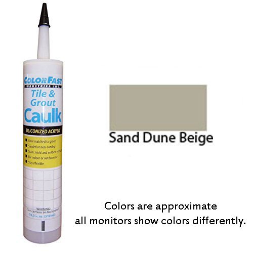 Color Fast Caulk Matched to Southern Grouts and Mortar Color Line (Sand Dune Beige Unsanded/Smooth)