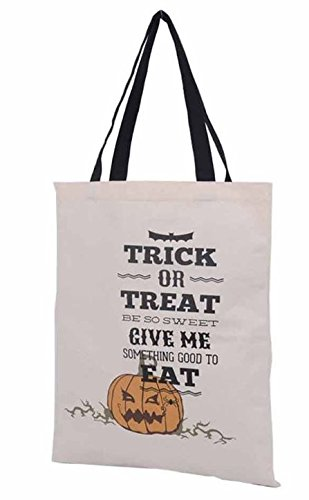 Bag Pumpkin Big Lawn (Halloween Candy Bag Trick or Treat Bags - Reusable durable handled bag design - Dots, Stripes, Skulls, Bats, Canvas and Bucket Basket by Jolly Jon)