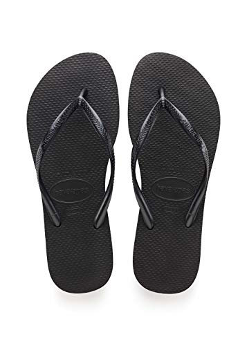 Havaianas Women's Slim Flip Flop Sandal, Black 35/36 BR (6 M US) from Havaianas