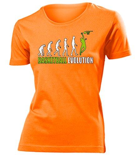 Sport - BASKETBALL EVOLUTION - mujer camiseta Tamaño S to XXL varios colores Naranja / verde