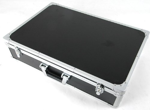 CNB PDC-410F MSBK Black Locking Aluminum Pedal Case, Large