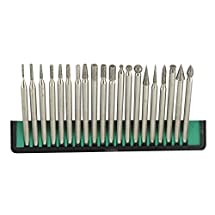 Pro-Quality 20-Piece Diamond Bur Set for Rotary Tool - Glass, Stone, Ceramic