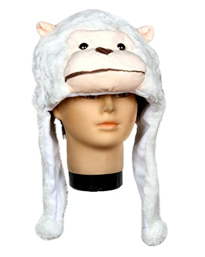 Petitebella Halloween Costume Animals Hat Unisex Clothing Free Size (White (White Gorilla Costume)