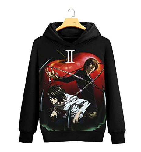 GO2COSY Anime Death Note Light Yagami Cosplay Jacket Sweatshirt Fleeces Costume Hoodie (Death Note Cosplay Costumes)