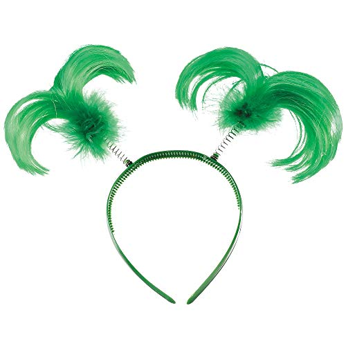 Amscan St. Patricks Day Green Feather Ponytail Headbopper | Party Accessory