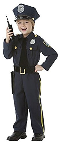 Amscan Halloween Police Officer Costume - Children's Dress Up Cop Costume with Pretend Hat, Holster, and Walkie Talkie