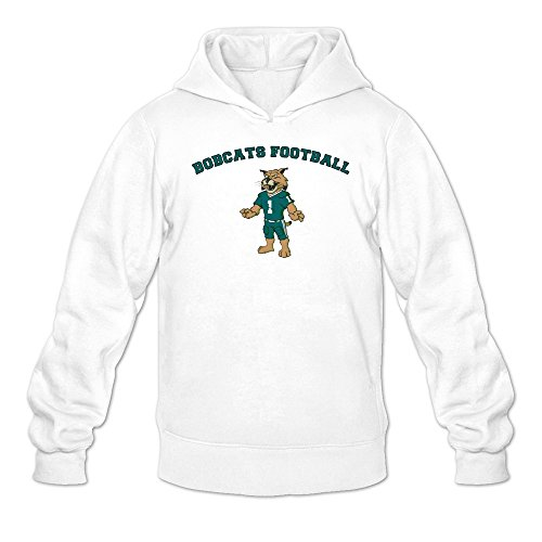 Tjame Men's Uniform Mascot Athens College Ohio Bobcats Hoodies White (Mascot Uniforms)