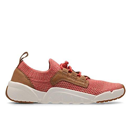 Clarks Tri Jump, Chaussures de ville à lacets pour femme Rose rose