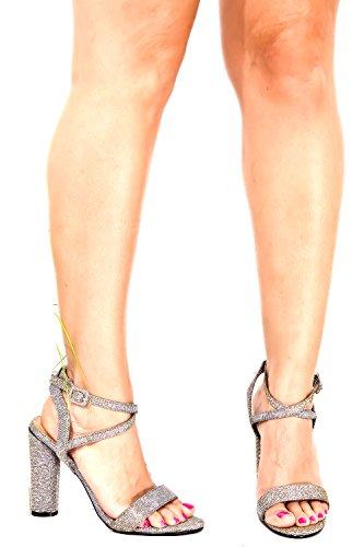 Dnd Anna Pu Open Toe Ritaglio Laterale E Posteriore Look Cinturino Alla Caviglia Zeppa Tacco Multicolor-m05-10