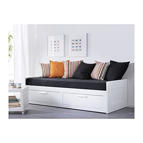 Amazon.com: IKEA tamaño individual sofá cama con 2 cajones/2 ...