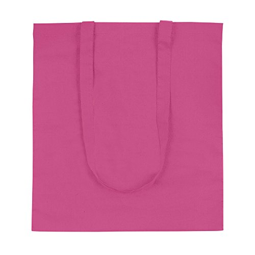 Bags 10 Cotton Tote Natural Pink Shoppers Colours 3 q44RwA