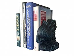 Handcrafted Model Ships 2-k-49009-seaworn 9 in. Cast Iron Conch Shell Book Ends, Set Of 2 - Seaworn Blue