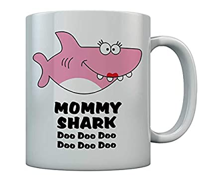 Tstars - Mommy Shark Doo doo doo Coffee Mug For Mother Gift For Mom Birthday Mug