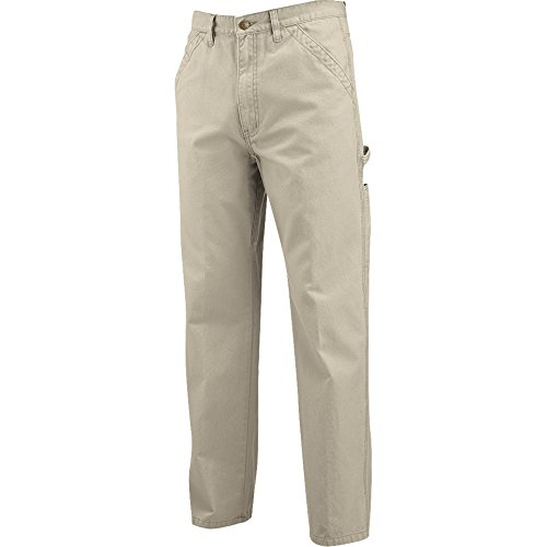 Cotton Canvas Pants - Wolverine Men's Hammerloop Cotton Duck Canvas Utility Pant, Khaki,  36x32