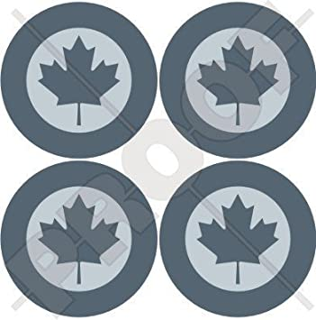 Decals x4 Vinyl Stickers CANADA Canadian Air Force RCAF AIRCOM Aircraft Roundels 2 50mm