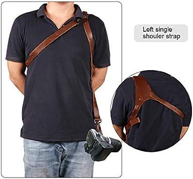 RollingBronze Camera Strap Adjustable Portable Leather Camera Shoulder Neck Strap Vintage Belt Band Accessories
