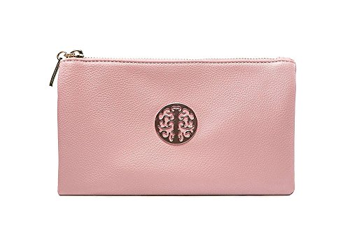 Long & Son - Sandalias con cuña chica mujer Pearlised Pink