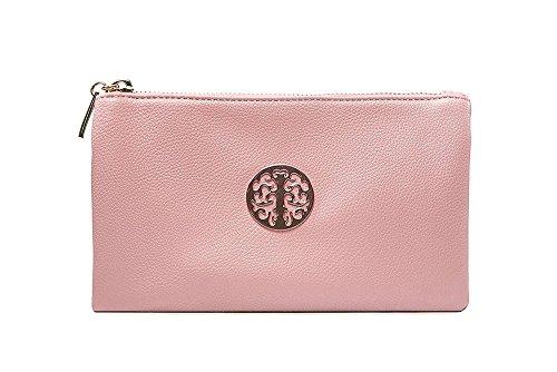 À Son Pochette Bandoulière Petite amp; Pearlised Dragonne 3141 Pink Femme Long Avec Pour Sacs qaxTt6