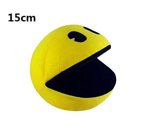 Pac Man Face (RedGlobe 1 PCS PIXELS Movie Pacman Stuffed Toy Doll And Pac Man Pac-man Smiling face Plush Toys Q bert, Christmas gifts)