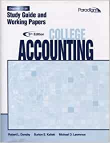 Amazon college accounting chapters 13 28 study guide and amazon college accounting chapters 13 28 study guide and working papers fifth edition 9780763834920 robert l dansby books fandeluxe Gallery