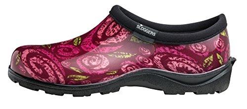 Rain Sloggers Red with Garden Insole Style Women's Rose Shoe Comfort Poppy Waterproof Size 9 5116POR09 Swirls and rqxwrfEA