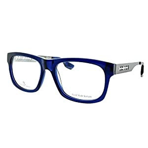 Alexander McQueen MCQ 0025 RL2 Crystal blue/Dark Ruthenium Rectangle Eyeglasses