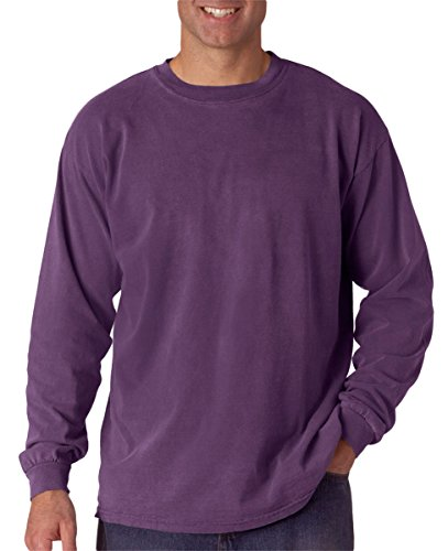 Comfort Colors Ringspun Garment-Dyed Long-Sleeve T-Shirt, Small, GRAPE (Best Discount Clothing Websites)