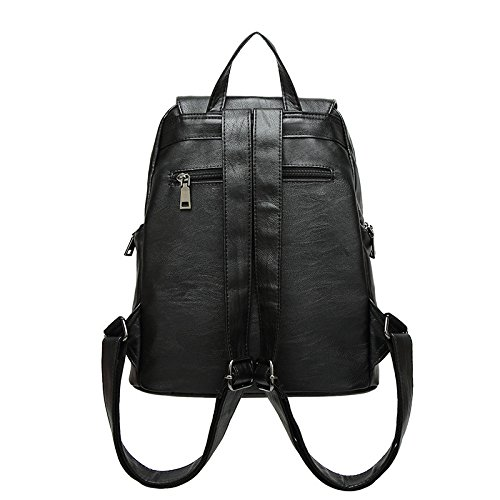 2018pu Color Fashion Color Shoulder Solid Bag Black Fashion Black Pure OzZxF