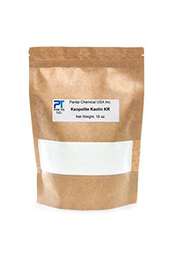 100% Natural ,Pure, White Kaolin KR Cosmetic Grade/ Personal Care Kaolin Clay Fine Powder Made in USA (16oz)