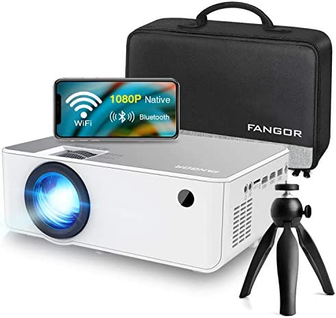 1080P HD Projector, WiFi Projector Bluetooth Projector, FANGOR 6500 Lumen 230″ Portable Movie Projector, Compatible with TV Stick, HDMI, VGA, USB, Laptop, iPhone Android for PowerPoint Presentation