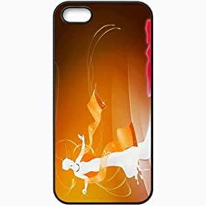 Personalized iPhone 5 5S Cell phone Case/Cover Skin Artistic Black