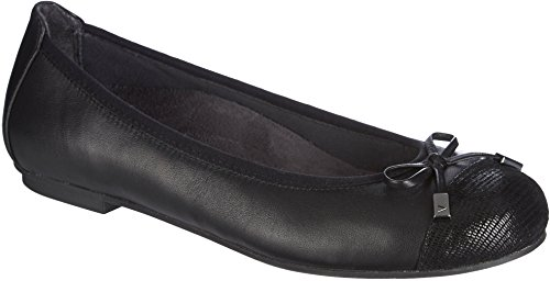 Vionic with Orthaheel Technology Women's Minna Ballet Flat,Black,US 8 M
