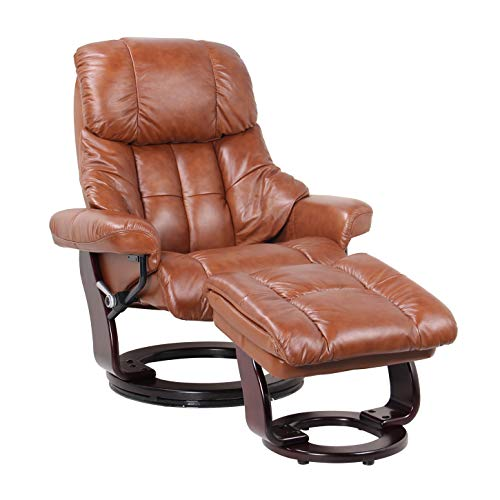 Coja by Sofa4life C-Cog Chambery Leather Recliner and Ottoman ()