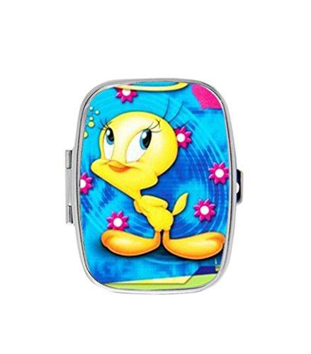 Cute Cartoon Tweety Bird Custom Design Unique Pill Box Medicine Tablet Holder Vitamins Organizer Dispenser ()