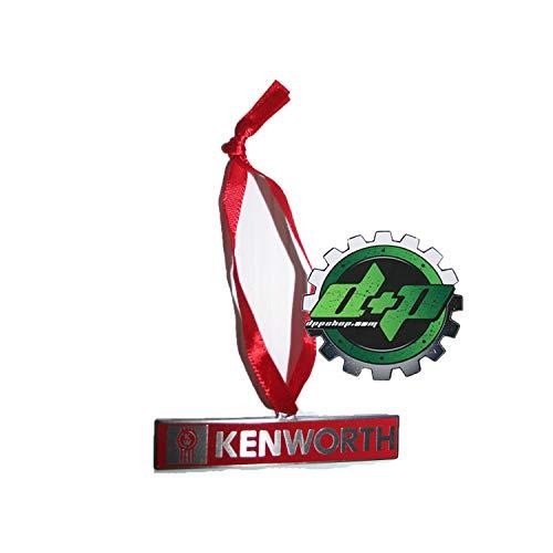 Diesel Power Plus Kenworth Christmas Tree Ornament Logo red Silver semi Truck ()