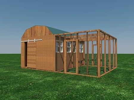 Construir su propio 12 x 16 gallinero (DIY) Fun Planes para construir. Ahorre dinero.: Amazon.es: Jardín