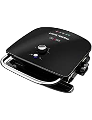 George Foreman GBR5750SBLQ Grill & Broil 7-in-1 Electric Indoor Grill, Broiler, Panini Press, and Waffle Maker, Black