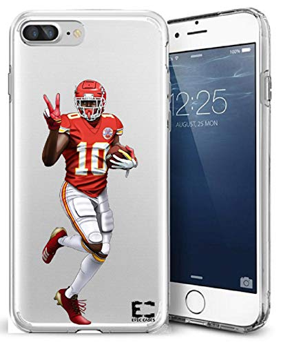 iPhone6 Plus iPhone 7/iPhone 8 Plus Case Epic Cases Ultra Slim Crystal Clear Football Series Soft Transparent TPU Case Cover Apple (iPhone 6 Plus)(iPhone 7 Plus)(iPhone 8 Plus)(Tyreek Peace)