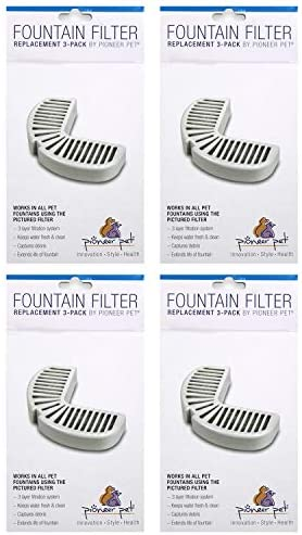 Pioneer Pet Replacement Filters for Ceramic Stainless Steel Fountains, Raindrop Filters