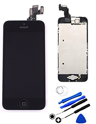 Buy cheap repair cracked iphone lcd display screen touch digitizer full assembly replacement with home button front