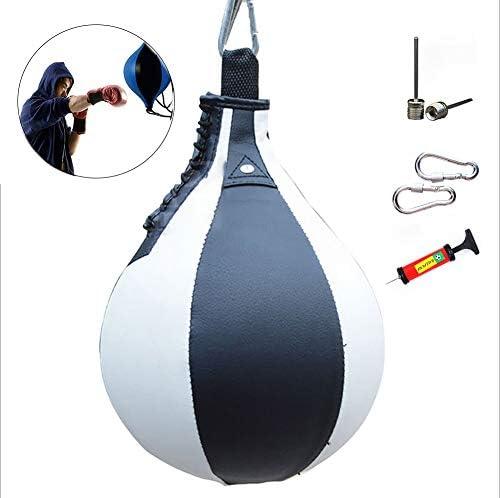 強度 ボクシング パンチング ボール インフレータブル梨形状PUスピードスイベルパンチバッグ運動フィットネストレーニングハンギングアクセサリー