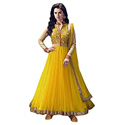 Karva Fashion Women's Georgette Semi-stitched Salwar Suit