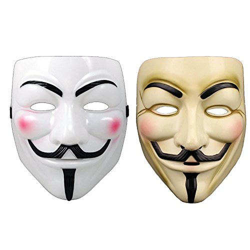 guy fawkes V vendetta team pink blood scar masquerade masks Halloween carnival Vendetta mask V masks (2 (Guido Halloween Costumes)