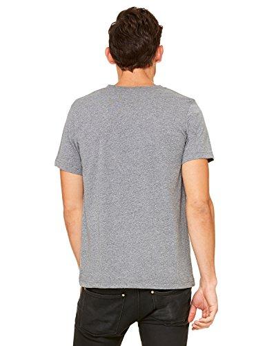 (Bella + Canvas Unisex Jersey Short-Sleeve V-Neck T-Shirt - DEEP Heather - S - (Style # 3005 - Original Label))