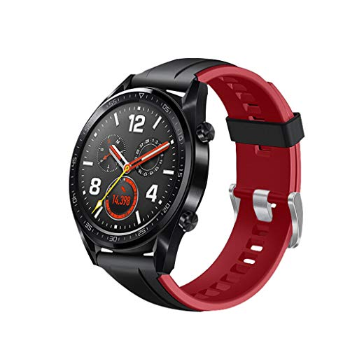 - Clearance Sale!DEESEE(TM)Silicone Band Replacement WristStrap for Huawei Watch GT Active 46mm Honor Magic (Red)