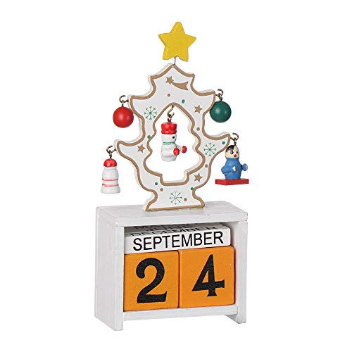 Christmas Advent Calendars,Party Decor Home Garden Decorative Supplies Xmas Ornament Gifts Wooden Crafts(E) from Tooeary